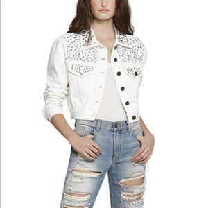 ✨ Alice + Olivia White Chloe Crystal Jacket ✨